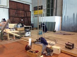 decorwerkplaats van decorbouwbedrijf Cinetone decorbouw